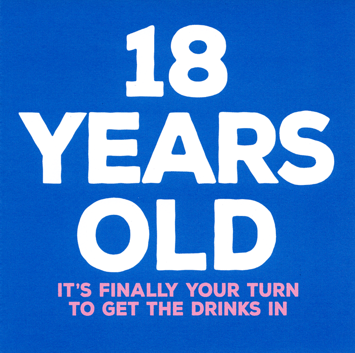 Birthday Card - 18th - Your Turn To Get The Drinks In