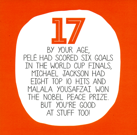 17th - You're good at stuff too