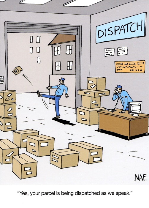 Funny Cards - Parcel Is Being Dispatched