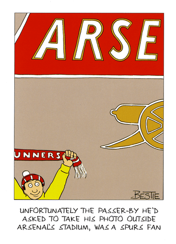 Funny Cards - Photo Outside Arsenal's Stadium