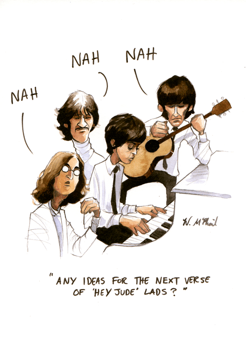 Funny Card Beatles Any Ideas For The Next Verse Comedy Card Company