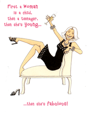 Birthday Card - Then She's Fabulous