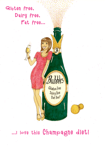 Birthday Card - Love This Champagne Diet