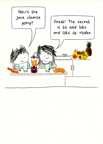Funny Cards - Juice Cleanse