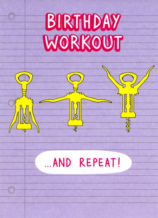 Birthday Card - Birthday Workout