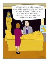 Funny Cards - New Mummy - Pharaoh Rocher