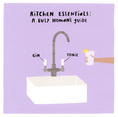 Funny Cards - Kitchen Essentials - Gin Tonic