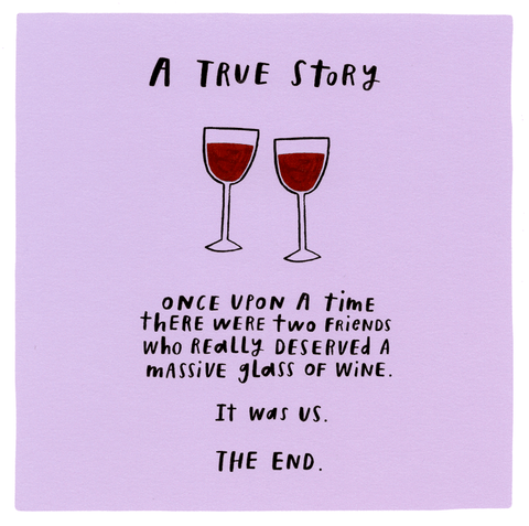 Funny Cards - Two Friends Who Deserved Wine