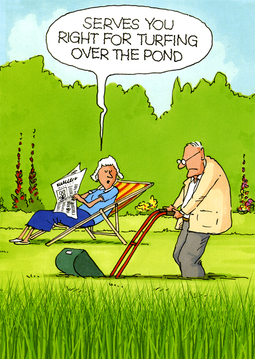 Funny Cards - Turfing Over The Pond