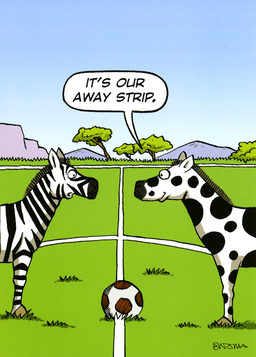Funny Cards - Our Away Strip