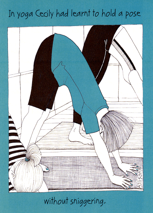 Funny Cards - Yoga - Learnt To Hold A Pose