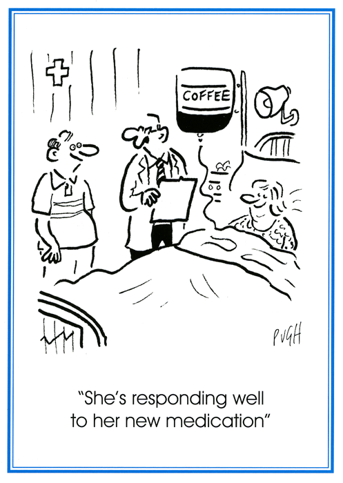 Funny Cards - New Medication - Coffee