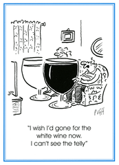 Funny Cards - Wish Gone For White Wine