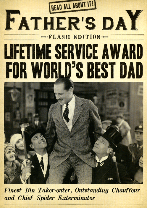 Funny Father's Day Cards - Father's Day - Lifetime Service Award