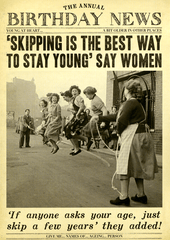 Birthday Card - Skipping To Stay Young