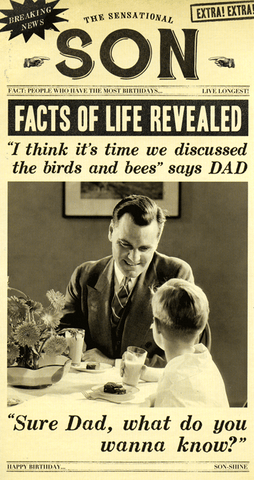 Birthday Card - Son - Discuss The Birds And Bees