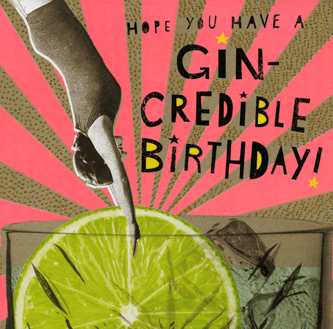 Birthday Card - Gin-credible Birthday