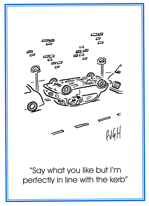 Funny Cards - Perfectly In Line With The Kerb