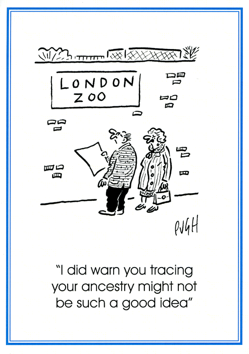 Funny Cards - Tracing You Ancestry