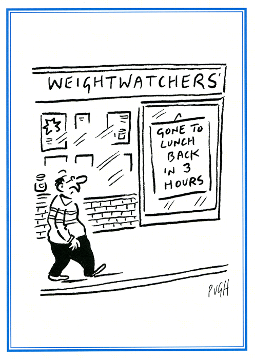 Funny Cards - Weight Watchers - Gone To Lunch