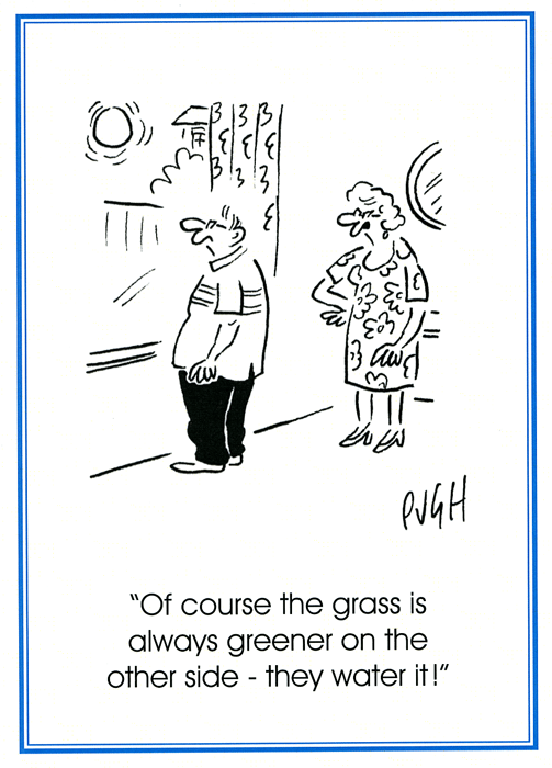 Funny Cards - Grass Is Always Greener On The Other Side
