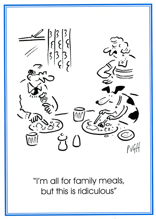 Funny Cards - I'm All For Family Meals