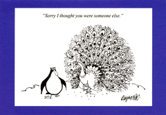 Funny Cards - Peacock - Thought Someone Else