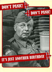 Birthday Card - Don't Panic - Just Another Birthday