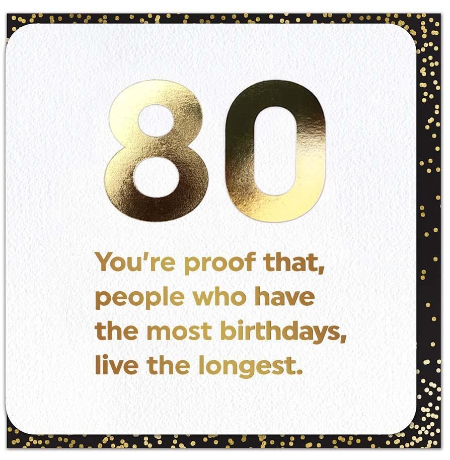 Funny 80th Card