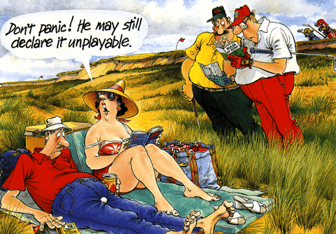 Funny Cards - Golf - May Still Declare It Unplayable
