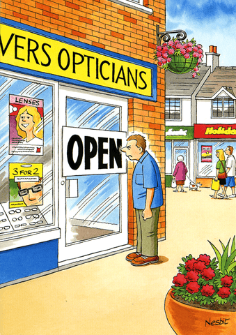 Birthday Card - Opticians - OPEN