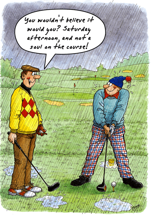 Funny Golf Birthday Card