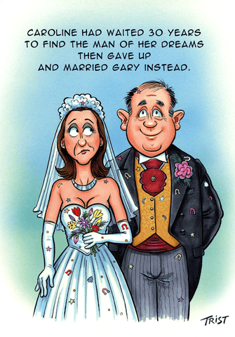 Birthday Card - Gave Up And Married Gary