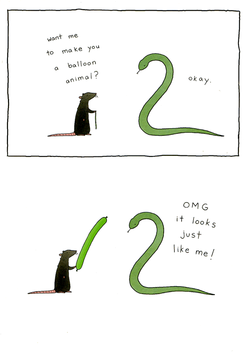 Funny Cards - Balloon Snake
