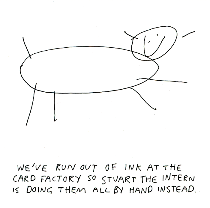 Funny Cards - We've Run Out Of Ink