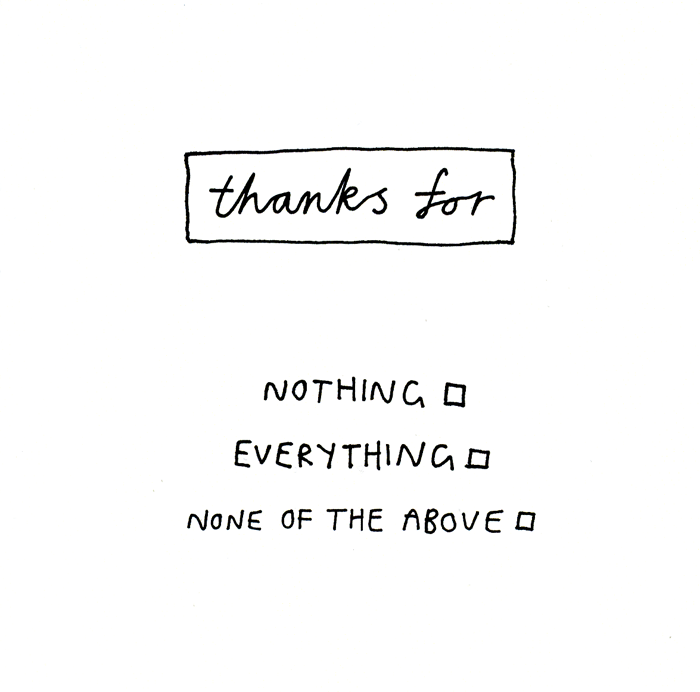 Thank You Card - Thanks For . . .