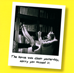 Funny Cards - House Was Clean Yesterday