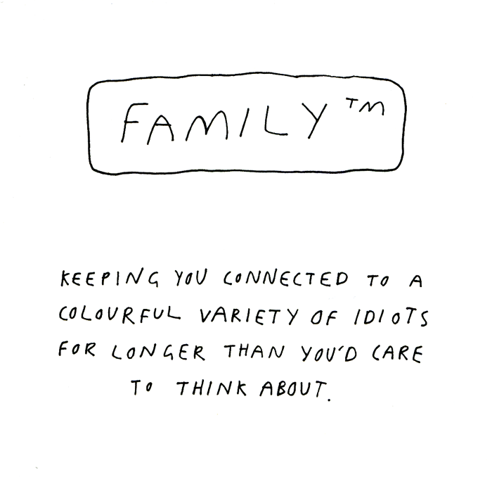 Funny Cards - Family - Colourful Variety Of Idiots