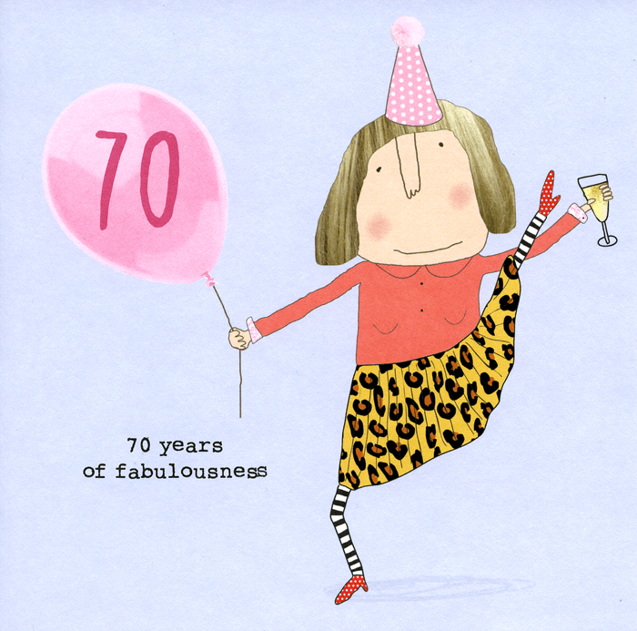 Funny 70th birthday card 70 years of fabulousness – 70 Birthday Cards