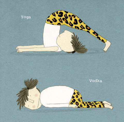 Funny Cards - Yoga V Vodka