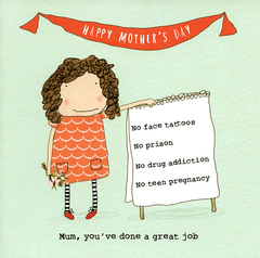 Mother's Day Cards - Mum - Done A Great Job (girl)