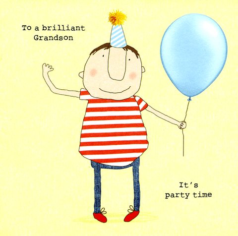 Funny Cards - Grandson - Party Time
