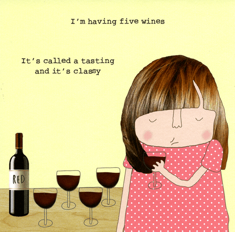 Funny Cards - Five Wines - Called A Tasting