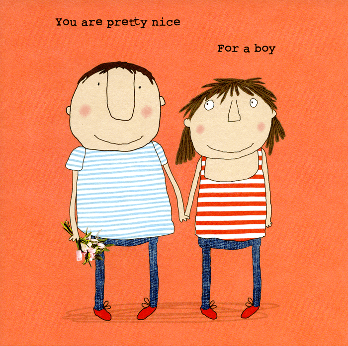 Valentines Cards - Nice For A Boy