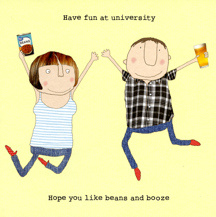 Funny Cards - University - Beans And Booze