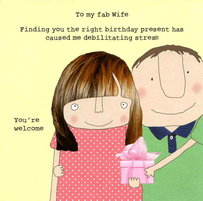 Birthday Card - Fab Wife - Right Birthday Present