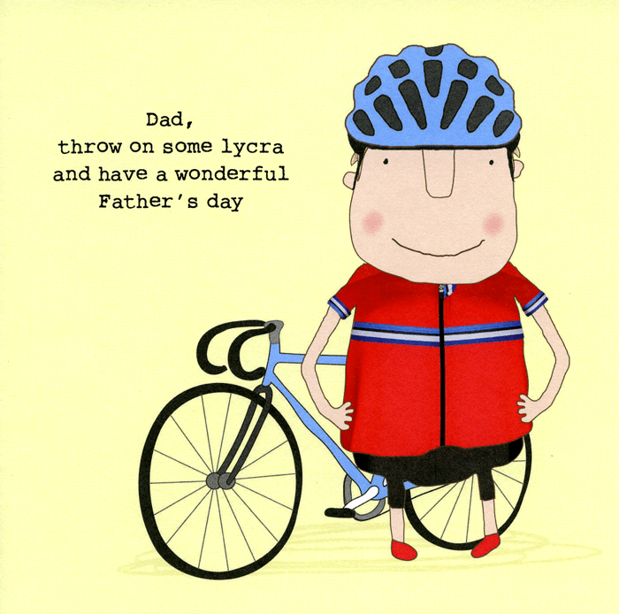 Funny Father's Day Cards - Throw On Some Lycra