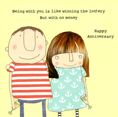 Love / Anniversary Cards - Winning The Lottery Without Money