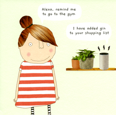 Funny Cards - Alexa - Remind Me To Go To The Gym