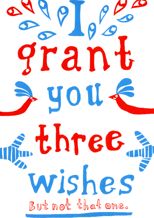 Funny Cards - I Grant You Three Wishes